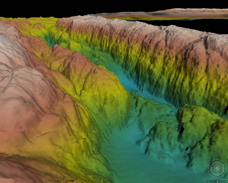 Latest bathymetric data from SAMS